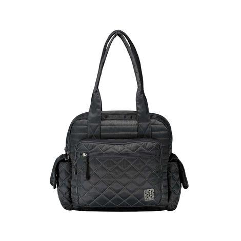 Bolso-Porta-Tablet-para-Mujer-Minkar-gris-gray-pinstripe